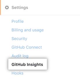 Pestaña GitHub Insights