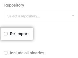 Casilla de verificación de re-importación