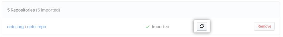 Botão de atualizar
