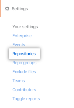 Pestaña Repositories (Repositorios)