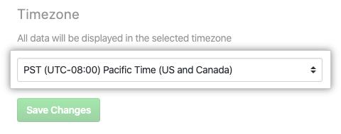 Timezone drop-down menu
