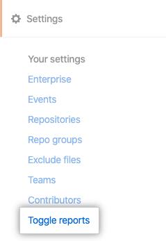 Toggle reports tab