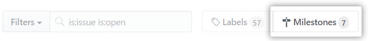 Issues Milestone button