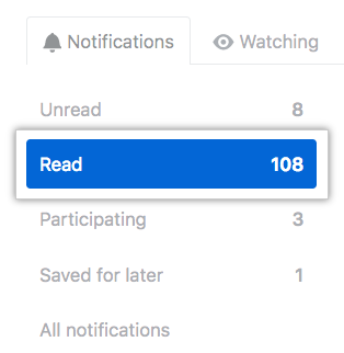All notifications button