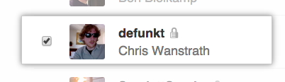 Remove user checkbox