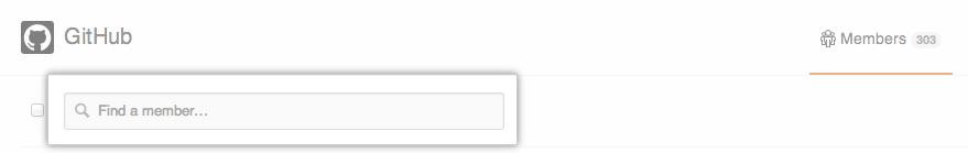 [Organization member search] ボックス