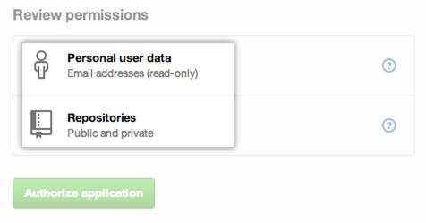 Detalhes de acesso do OAuth