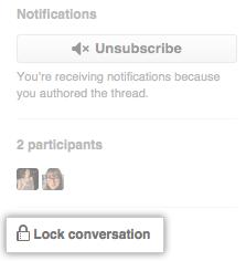 Lock conversation link