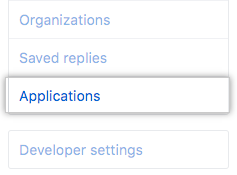 Applications tab