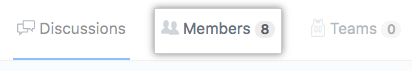 Members tab