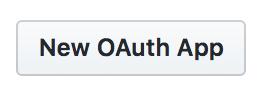 新しい OAuth App を作成するボタン