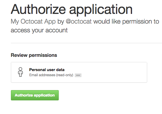 GitHub 的 OAuth 提示
