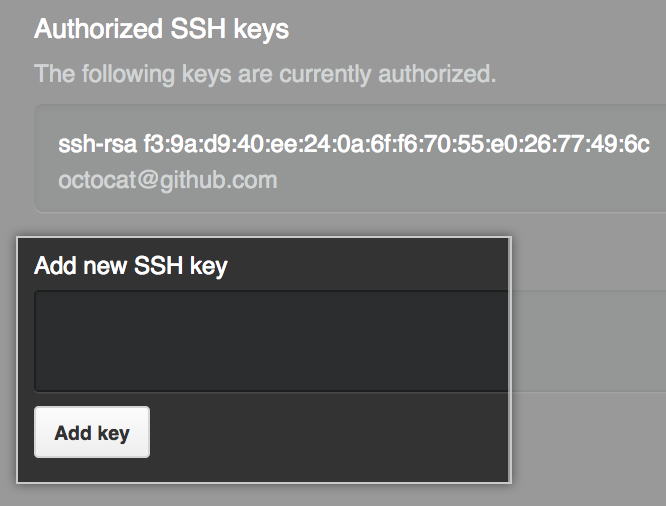 SSHキーの追加