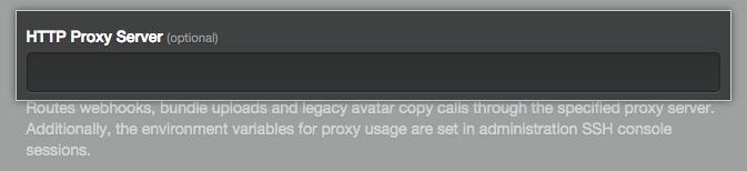 Campo para escribir la URL del servidor proxy HTTP