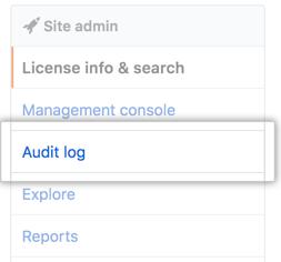 Aba Log de auditoria