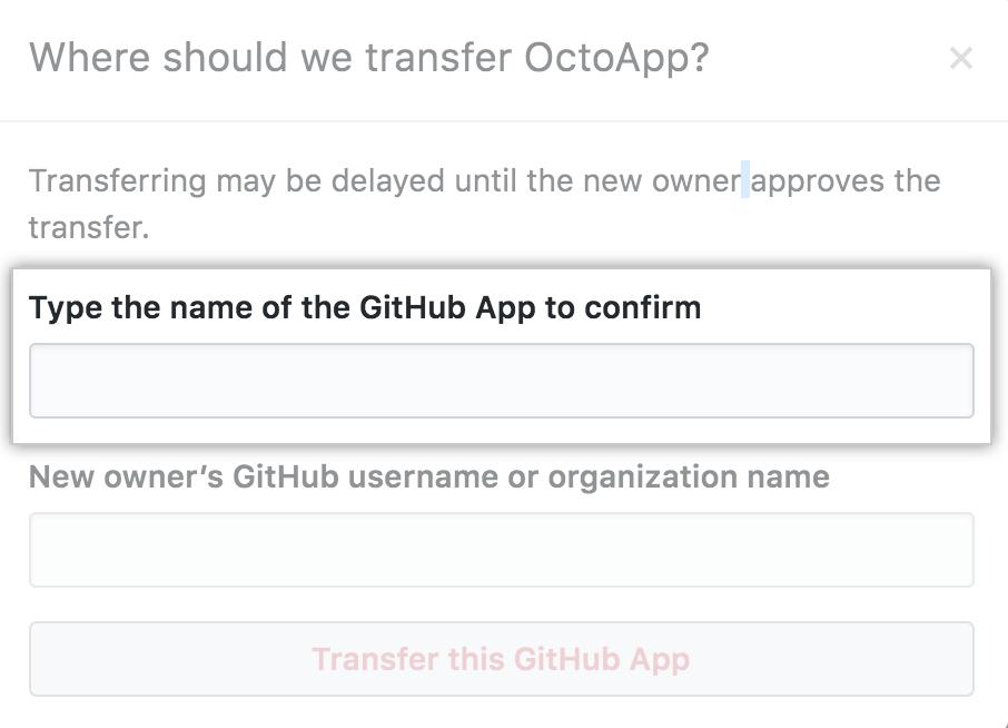 Campo para ingresar el nombre de la app a transferir