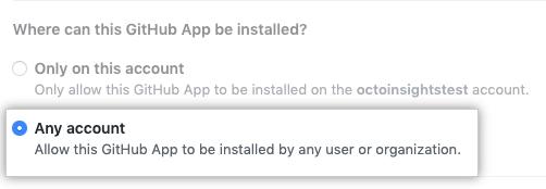 启用访问任何帐户的单选按钮