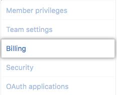 Billing settings