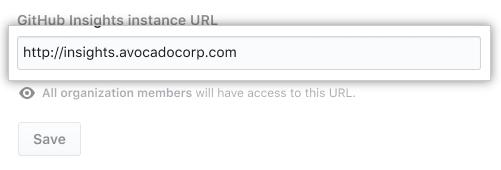 GitHub Insights instance URL