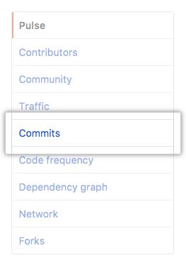 Commits tab