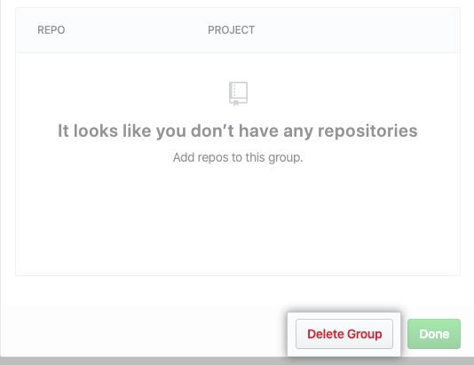Delete Group button