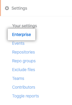 Enterprise tab