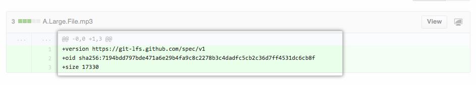 大容量ファイルのプルリクエスト例