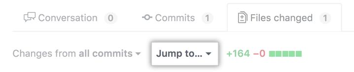 [Jump to] ドロップダウンメニュー