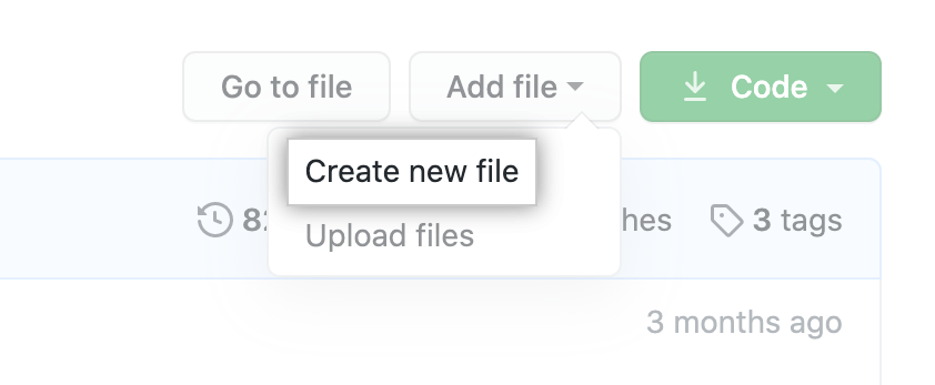 """Create new file"" button"