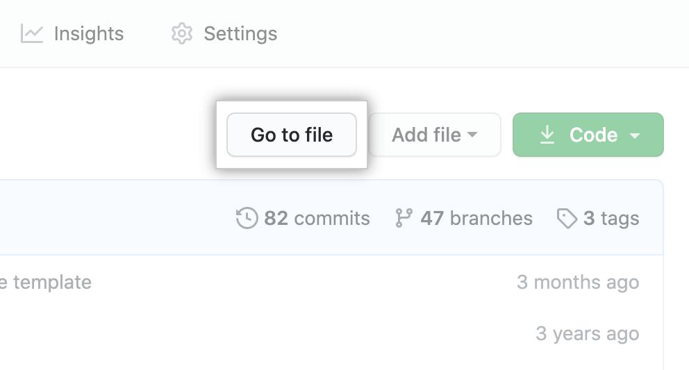 Botão Find file (Localizar arquivo)