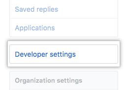 Configurações do desenvolvedor
