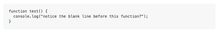 Bloque de código cercado representado