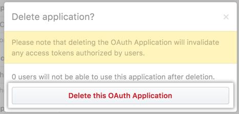削除を確認するボタン