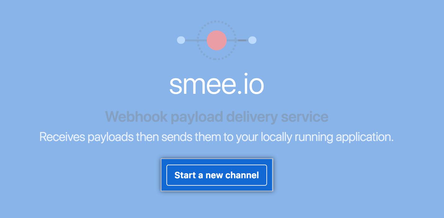 O botão do novo canal da Smee