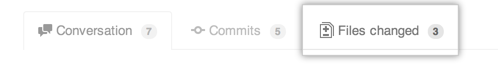 Pull Request Files changed tab