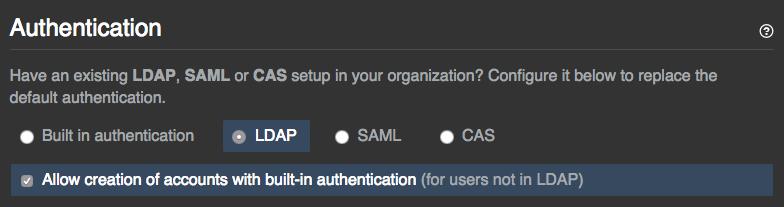 Option zur Auswahl der integrierten Authentifizierung