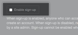 启用注册复选框