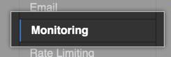 Monitoring tab