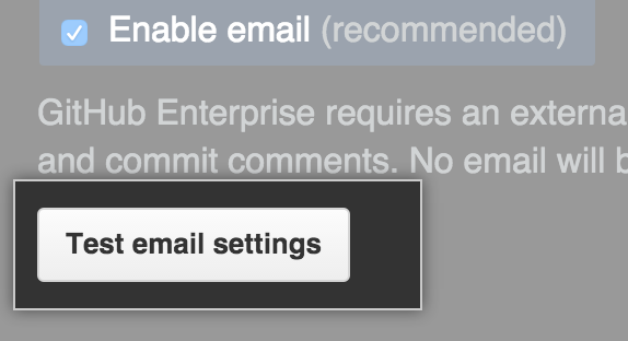 メール設定のテスト