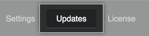 """Menüpunkt """"Updates"""""""