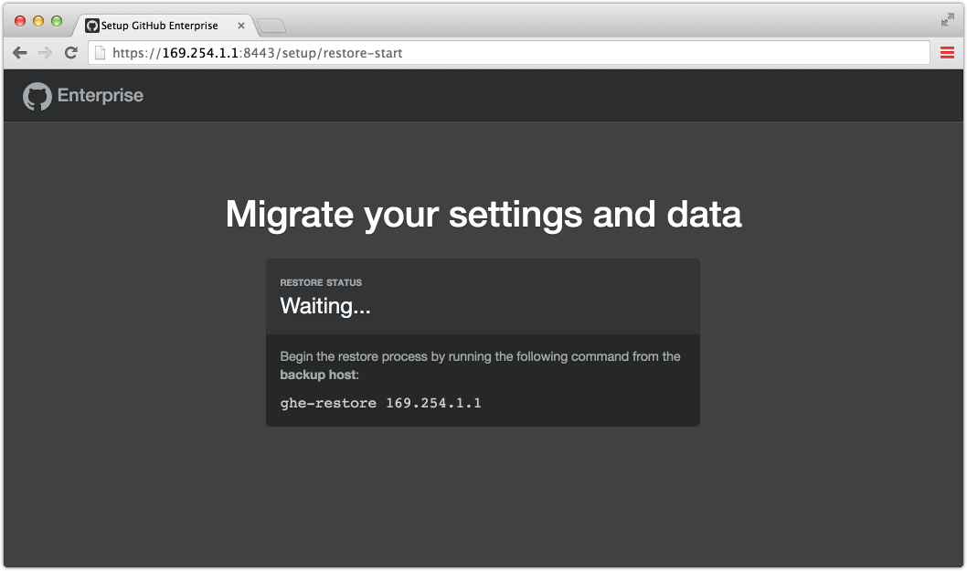 Starting a migration