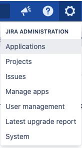 Select Applications on Jira settings