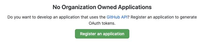 Register new application button