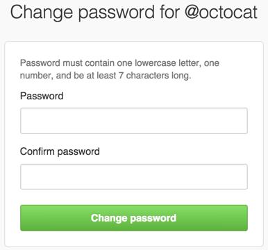 密码恢复框