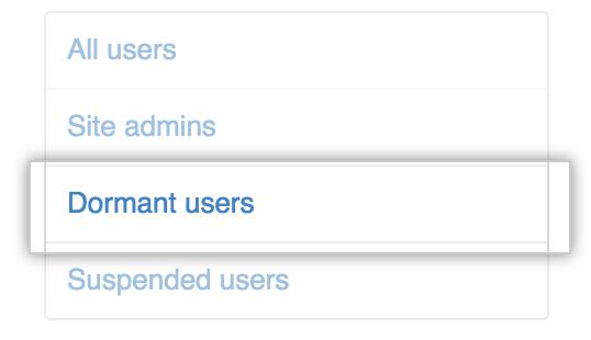 Dormant users tab