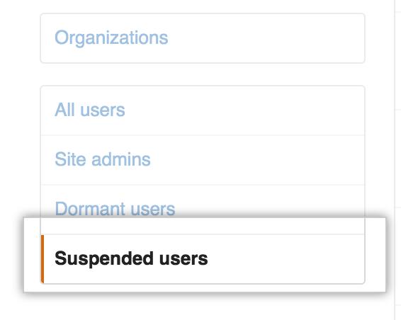 Pestaña Usuarios suspendidos