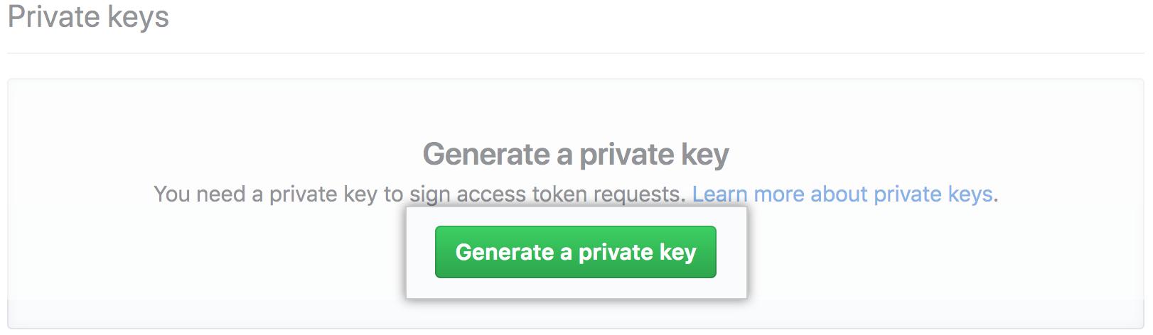 Generate private key