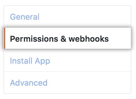 Permissões e webhooks