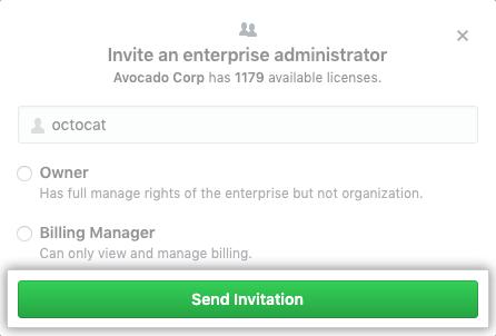 [Send invitation] ボタン