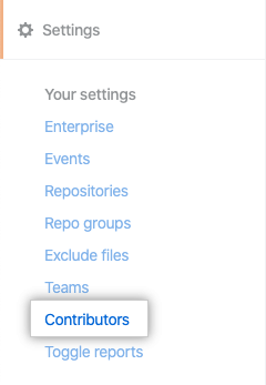 Contributors tab